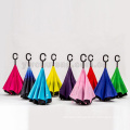 New design Hands free magic umbrella inverted upside down reverse umbrella