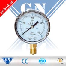 Manómetro de la caldera de vapor con dirección radial