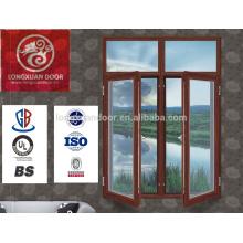2015 moderno melhor preço de alta qualidade temperado seguro de vidro de madeira swing windows