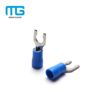 Whosale bleu a isolé le terminal de verrouillage de cuivre de PVC avec 1.5-2.5mm