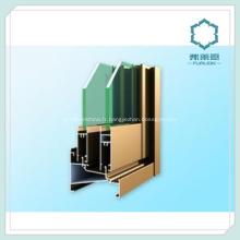 Trium profils décoration fenêtre Extrusion d'aluminium fenêtre