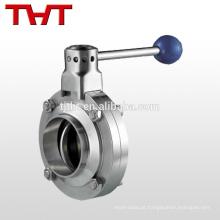 Válvula de borboleta tri-clamp sanitária de aço inoxidável