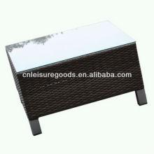 2013 nouveau design en osier qualité rotin table basse
