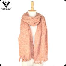 Las mujeres de invierno cálido mantener el tamaño grande del lazo del hilado del estilo étnico retro bufanda
