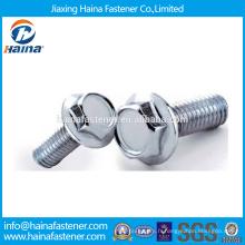 Fournisseur chinois DIN6921 Dacromet / HDG / Boulon hexagoné plaqué de zinc avec bride en acier inoxydable