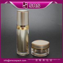 SRS luxury eye shape 15ml acrylic cosmetic cream jars