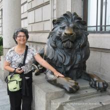 Mordern Garten Skulpturen dekorative Outdoor-Statuen von Löwen-Statue-Paar