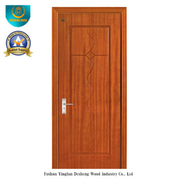 Porte design HDF chinois pour l'intérieur avec la couleur marron (ds-092)