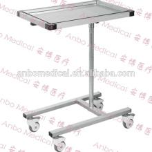 Mesa de instrumentos médico de mayo de acero inoxidable