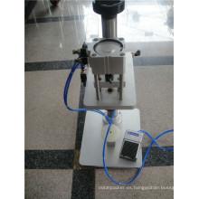 ZH-C tipo de mesa manual de perfume spray máquina de taponamiento