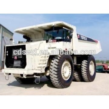 off-road camiones mineros camión de descarga de 100 toneladas con cubo de roca