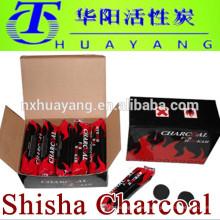 Carbón de leña 100% natural, fabricación rápida de la iluminación carbón de la cachimba para la shisha