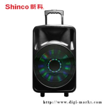 Enceinte active sans fil de chariot sans fil de Bluetooth en gros pour le karaoke