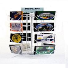Clear Acrylic Pocket Brochure Display Stand/Display Rack/Display Banner