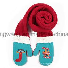 Mode hiver en tricot Polaire Polaire longue foulard en polyester pour Noël