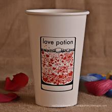 Logotipo impresso personalizado Copo de papel da bebida fria