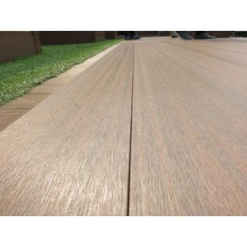 Garden Waterproof Antiseptic Brush / Embossed WPC Composites Decking Flooring with Wood Like Finish Matt Finish