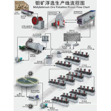 Línea de procesamiento de flotación de minerales de molibdeno para recuperación