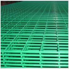 Panel de malla de alambre soldado con revestimiento de PVC verde