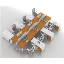 Estación de trabajo recta moderna con asientos de 6 personas (HF-YZK016)