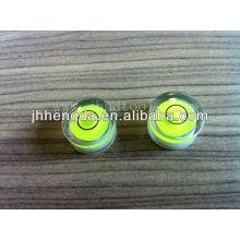 Dia15mm * 8mm, flacon de niveau rond, flacon de levle à haute transparence
