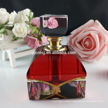 Polishing perfume bottle glass crystal 6ml diamond perfume bottles