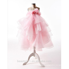 Summer Girl Clothing Pink Flower Girl Birthday Long Dress Child Garment Baby Dress ED637