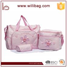 3 PCS New Pretty Multifuncional Viagem Bebê Fralda Múmia Bag Set