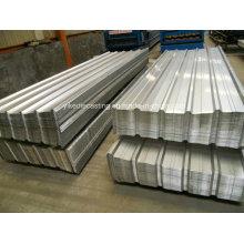 Feuille ondulée de toit en métal enduit d'aluminium de zinc