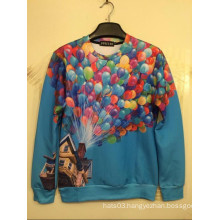 Colourful Balloon Long Sleeve Multcolor T Shirt