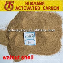 80 cáscara de nuez de polvo de malla para la industria cosmética