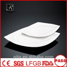 P & T porcelana fábrica steak pratos, pratos de jantar, placas de cerâmica
