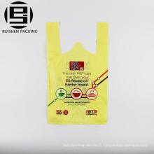T-shirt en plastique sacs à provisions personnalisés imprimés