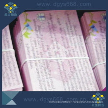 Color Printing Custom Design Anti-Coounterfeiting Coupon From China