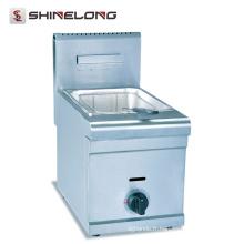Usine de haute qualité en acier inoxydable gaz 1 réservoir et friteuse 1 panier