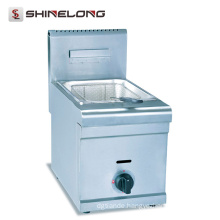 Factory High quality stainless steel Gas 1-Tank and 1-Basket Deep Fryer