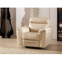 Sofá de sala de estar com conjunto moderno de sofá de couro genuíno (749)