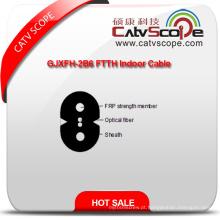 China fornecedor de alta qualidade Gjxfh-2b6 FTTH cabo de fibra óptica interior