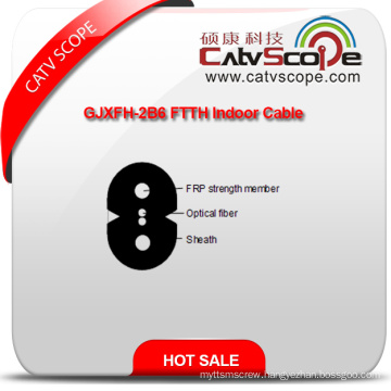China Supplier High Quality Gjxfh-2b6 FTTH Indoor Optical Fiber Cable