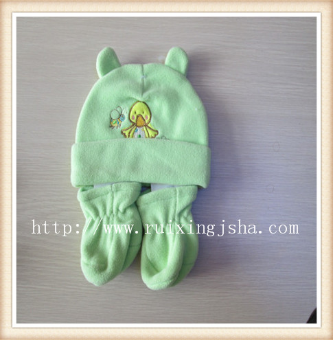 Baby Fleece Hat and Glove set
