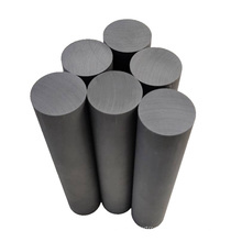 Low porosity customized length extruded graphite rods
