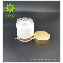 100g masque de sommeil récipient crème pour le visage pot de verre bouteille en verre vide avec couvercle en or