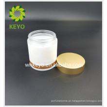 100g recipiente de máscara de dormir facial creme frasco de vidro frasco de vidro vazio com tampa de ouro