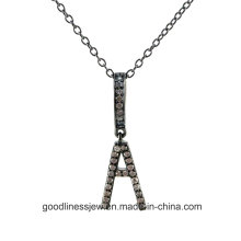 2015 Wholesale Top Quality Jewelry Pendant Silver Letter Charm A2ele145