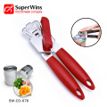 Durable Stainless Steel Can Opener with Plastic Grip