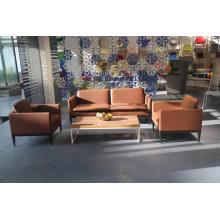 Club Luxury Leather Office Reception Sofa
