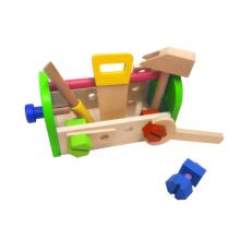 Boîte à outils en bois bricolage 13pcs jouet pour enfants et enfants