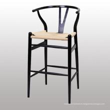 Silla de uso popular de madera del bar Y con la pierna de madera sólida