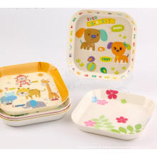 (BC-TM1001) High Quality Reusable Melamine Tray with Print