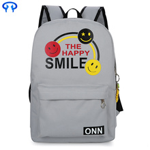 Fashionable lady canvas double backpack